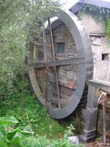 turbína Banki a vodní kolo Koreček
