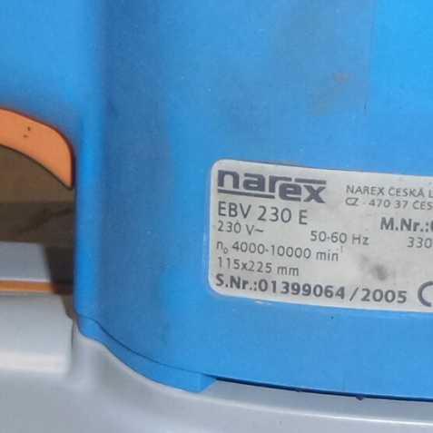 493c9936d326c Elektrická vibrační bruska Narex, prodám, na prodej